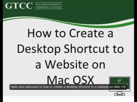 Create shortcuts to websites on a desktop for Mac