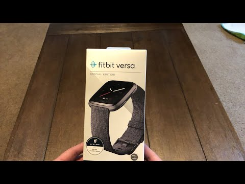Unboxing Fitbit Versa Special Edition Fitness Smartwatch