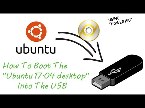 Boot ubuntu-17.04 into USB by Power ISO in 2 min