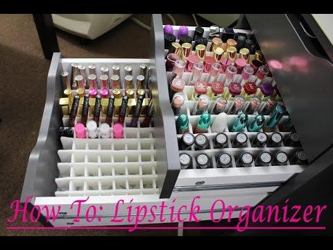 How To: DIY Alex Drawer Lipstick Organizer