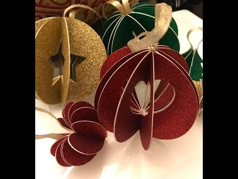 Crafting With April - Paper  3D Ornament #5 of 12 (Set of 3)