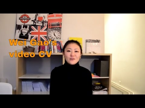 Video CV of Wei Gao