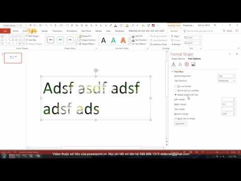 HỌC SLIDE POWERPOINT - P2 KỸ THUẬT VẼ HÌNH - 2.22 Format Shape - Text Option