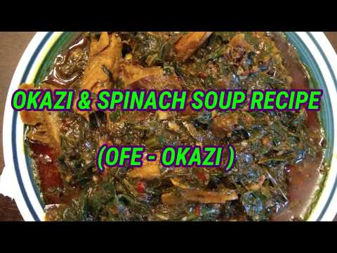 HOW TO COOK DELICIOUS UKAZI & SPINACH SOUP | OFE OKAZI | AFANG SOUP