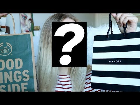TRY-ON HAUL - sephora, the body shop, drugstore