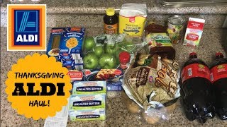 $30 Thanksgiving ALDI Grocery Haul |  How To Stay On Budget During The Holidays