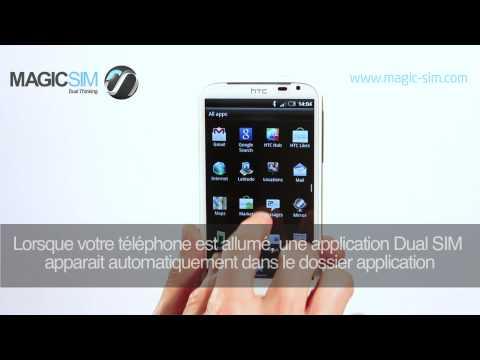 HTC SENSATION XL- Adaptateur Dual SIM - MAGICSIM ELITE - CUT