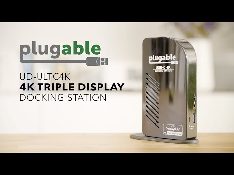 Plugable's USB-C 4K Triple Display Docking Station with Power Delivery