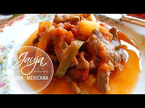 Bistec a la Mexicana con Papas