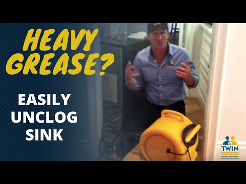 The best way to unclog a kitchen drain with heavy grease !