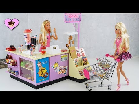 Barbie Doll Mini Mart - Playing Grocery Store & Supermarket Toys