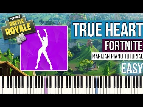 How To Play: Fortnite - True Heart | Piano Tutorial EASY