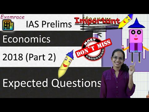 Expected Questions on Economics 2018 - UPSC IAS Prelims (Part 2) FBIL, Ashgabat, WTO Boxes