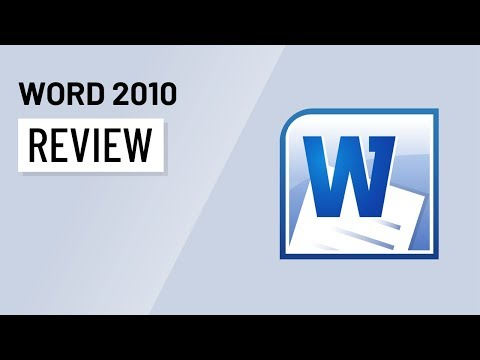 Word 2010: Reviewing
