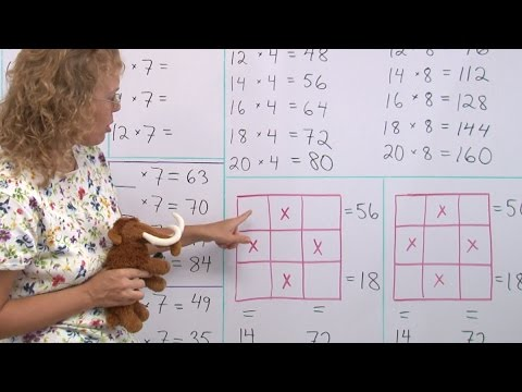 Two multiplication patterns and a puzzle - third/fourth grade math