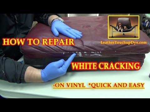 FIX WHITE CRACKING on vinyl VIDEO *****