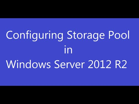 Configuring Storage Pool in Windows Server 2012 R2
