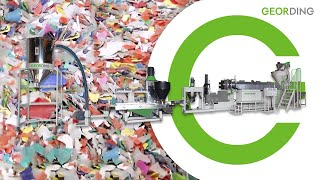 Recycling machine-Force feeding  two stages die-face twin cylinder screen changer 回收機 強押子母150mm