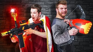 NERF Dungeons & Dragons Arena | Save the King Challenge!