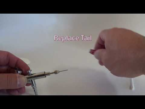 Airbrush Gun Needle Clean and Adjustment