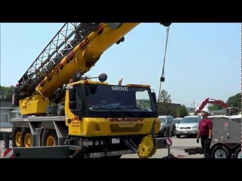 Carrier Rooftop Crane Installation Marshfield
