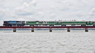 Silk City Express Train passing through Dilpashar Chalan Beel- Bangladesh Railway