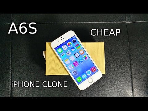 A6S UNBOXING - The Cheapest iPhone 6 Clone
