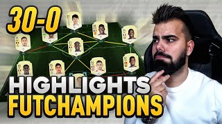 HIGHLIGHTS FUT CHAMPIONS 30-0 COM EQUIPA GOLD! HISTÓRICO!