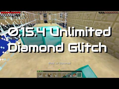 Minecraft Pocket Edition - Unlimited Diamonds Glitch (Duplication Glitch Realms Only)