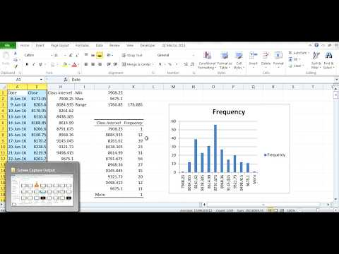 How to plot a histogram on Excel? (Part 2) using Returns