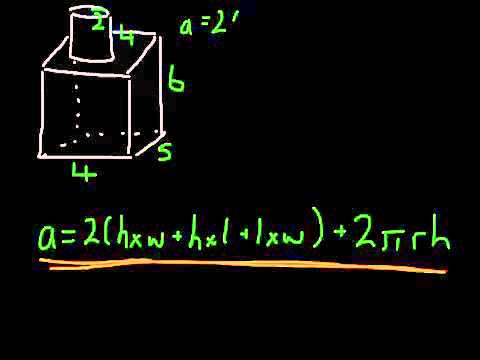 Total surface area of composite shapes