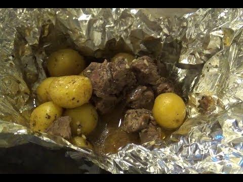 Garlic Steak and Potatoe Foil Packs