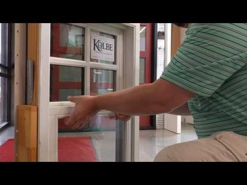 How to tilt in Kolbe double hung sashes for cleaning