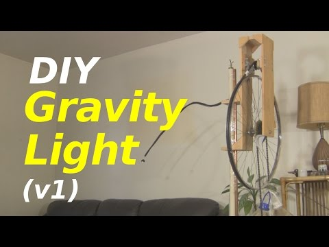 Gravity Light - a Homemade/DIY one (version 1)