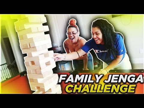 FAMILY JENGA CHALLENGE **very intense**