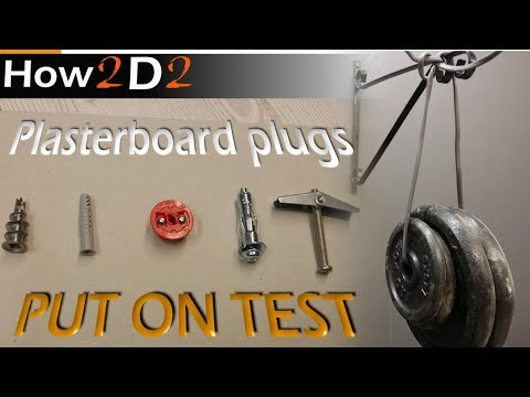 Plasterboard Fixings TEST Drywall plugs test How to fit plug & fixing