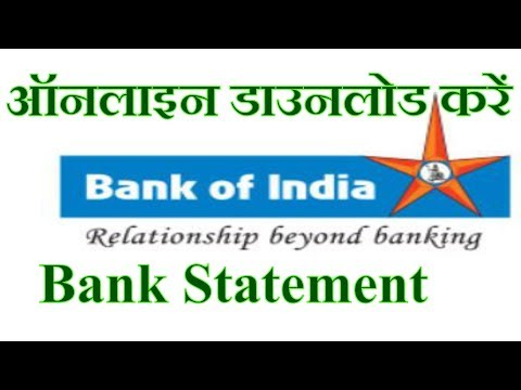 How to Download Bank of India Account Statement Online