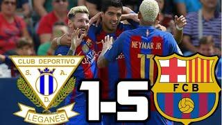 Leganes vs Barcelona 2016| RESUMEN Y GOLES| LIGA SANTANDER| 17-09-16
