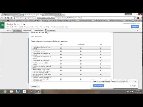 How to easily create and distribute a student survey using Google Forms.