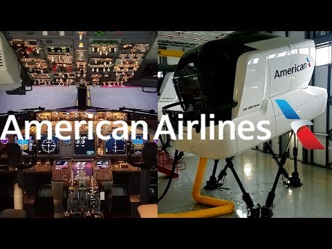 HD ATOP Jets American Airlines Full Motion  Boeing 737-800 Level D Simulator