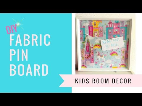 DIY Fabric Pin Board using a Picture Frame | kzvDIY