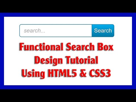 Functional Search Box Design Using HTML5 & CSS3 For Your Website | Web Design Tutorial