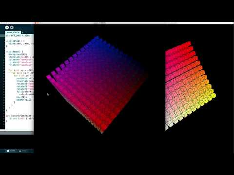 Animated Cube of Cubes with Java and Processing