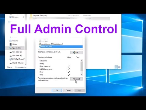 Take Administrator Control of Your Files and Folders - How to fix