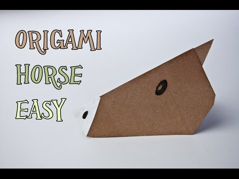 How to make an origami horse face (very easy)