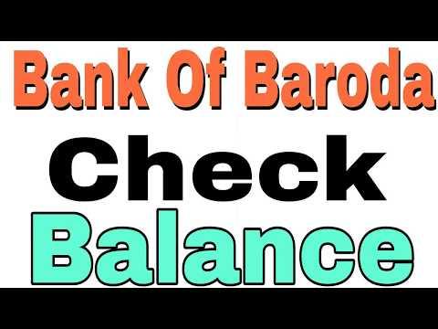 How to Check Balance Bank Of Baroda