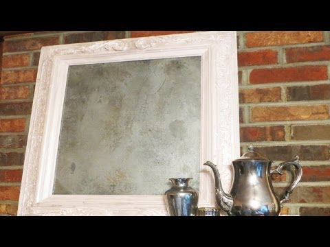 Upcycle Up Cycle  an old painting to a Vintage mirror