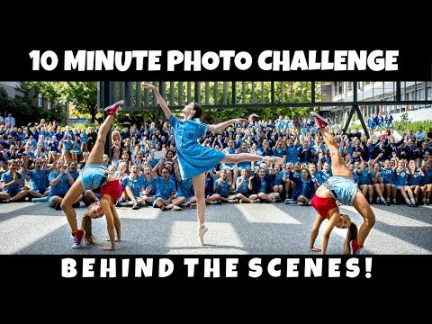 BTS with JORDAN MATTER for the 10 minute photo challenge! | The Rybka Twins