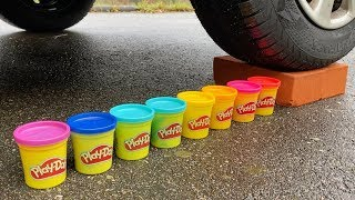 Crushing Crunchy & Soft Things by Car! - EXPERIMENT: CAR VS PLAY DOH