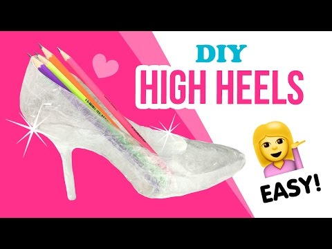 DIY Transparent High Heels!!! Make Budget Perspex Boots XD!!